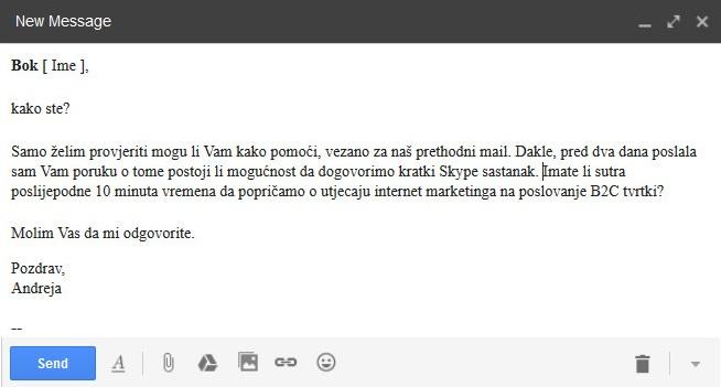 loše napisani poslovni mail