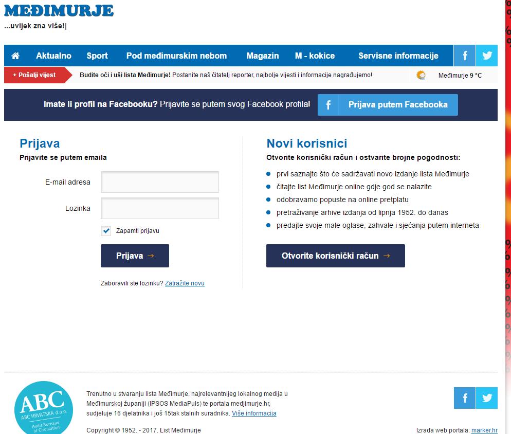 Primjeri za kontakt putem e-pošte na mreži