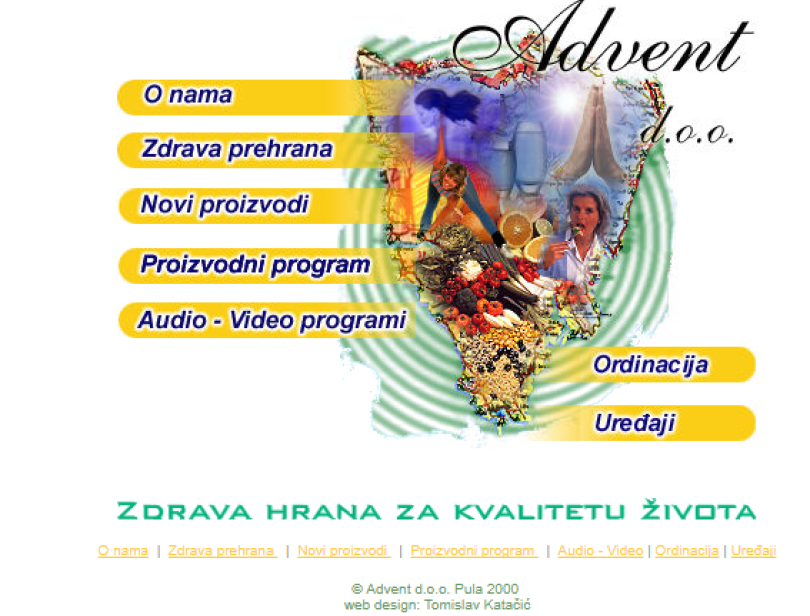 Advent.hr iz 2000. godine